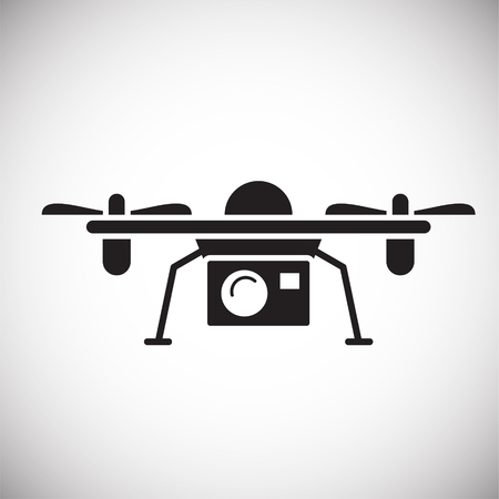 Drone icon on white background for graphic and web design, Modern simple vector sign. Internet concept. Trendy symbol for website design web button or mobile app Reklamní fotografie - 124996242