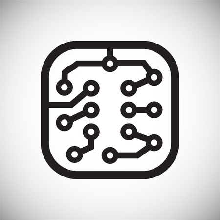 Electronic circuit icon on white background for graphic and web design, Modern simple vector sign. Internet concept. Trendy symbol for website design web button or mobile app Imagens - 124996245
