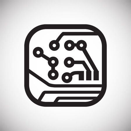 Electronic circuit icon on white background for graphic and web design, Modern simple vector sign. Internet concept. Trendy symbol for website design web button or mobile app Reklamní fotografie - 124996256