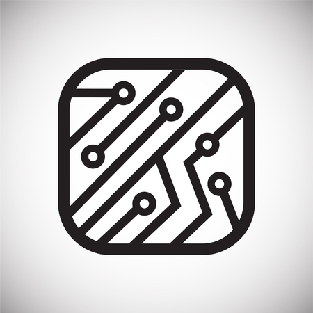 Electronic circuit icon on white background for graphic and web design, Modern simple vector sign. Internet concept. Trendy symbol for website design web button or mobile app 写真素材 - 124996261