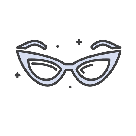 Glasses line icon on white background for graphic and web design, Modern simple vector sign. Internet concept. Trendy symbol for website design web button or mobile app Ilustrace