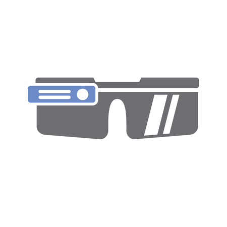 Icono de gogles inteligente sobre fondo blanco para diseño gráfico y web sencillo, moderno, signo de vectores. Concepto de internet. Símbolo de moda para el botón web de diseño de sitios web o aplicaciones móviles Ilustración de vector