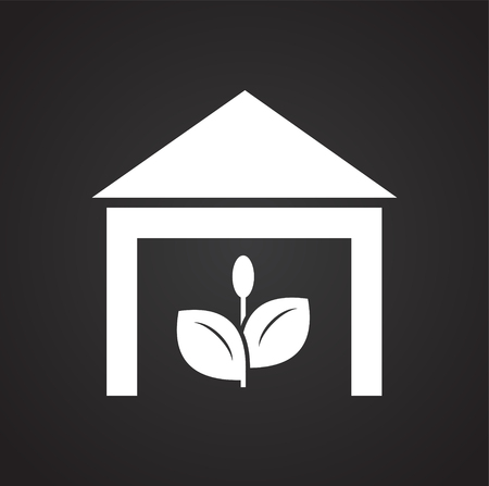 Grow icon on black background for graphic and web design, Modern simple vector sign. Internet concept. Trendy symbol for website design web button or mobile app Illustration