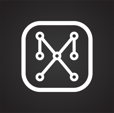 Electronic circuit icon on black background for graphic and web design, Modern simple vector sign. Internet concept. Trendy symbol for website design web button or mobile app Banque d'images - 124996289