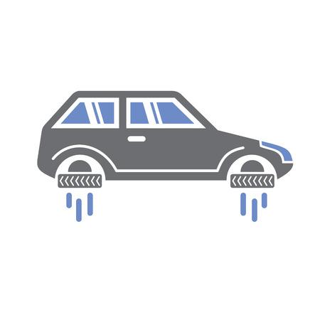 Flying car icon on white background for graphic and web design, Modern simple vector sign. Internet concept. Trendy symbol for website design web button or mobile app Reklamní fotografie - 124996296