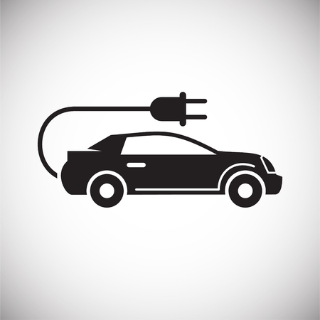 Electric car icon on white background for graphic and web design, Modern simple vector sign. Internet concept. Trendy symbol for website design web button or mobile app