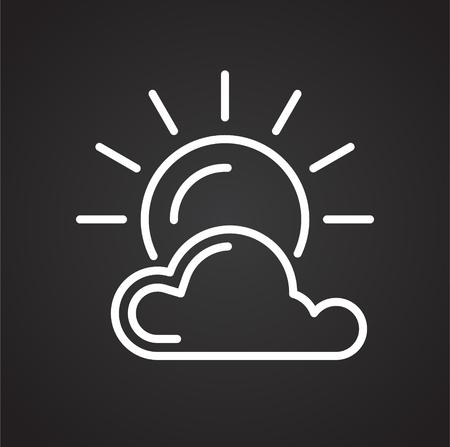 Summer line icon on black background for graphic and web design, Modern simple vector sign. Internet concept. Trendy symbol for website design web button or mobile app Illustration
