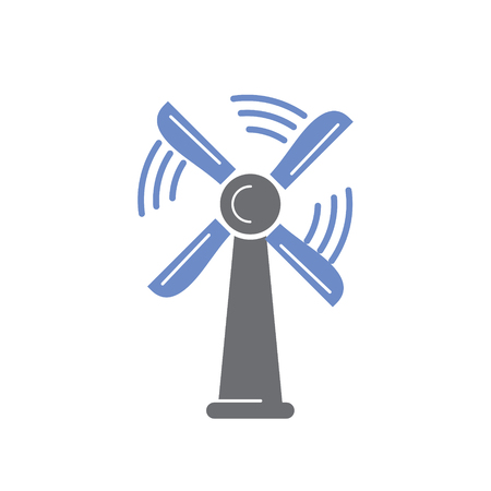 Wind mill icon on white background for graphic and web design, Modern simple vector sign. Internet concept. Trendy symbol for website design web button or mobile app Standard-Bild - 124996329
