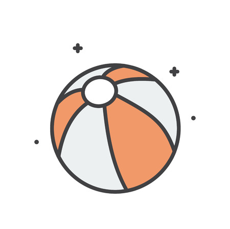 Beach ball line icon on white background for graphic and web design, Modern simple vector sign. Internet concept. Trendy symbol for website design web button or mobile app