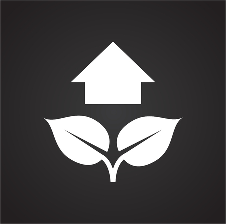 Grow icon on black background for graphic and web design, Modern simple vector sign. Internet concept. Trendy symbol for website design web button or mobile app Vectores