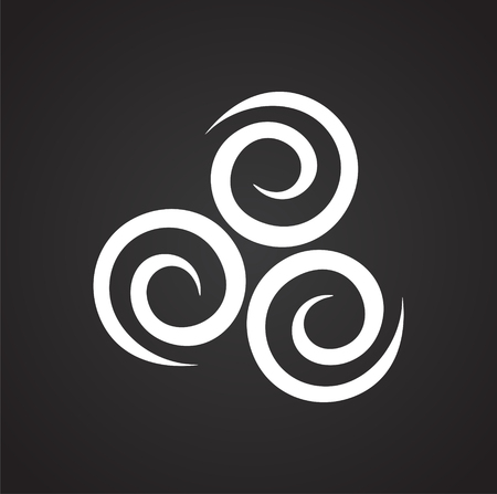 Wind icon on black background for graphic and web design, Modern simple vector sign. Internet concept. Trendy symbol for website design web button or mobile app Stockfoto - 117630424