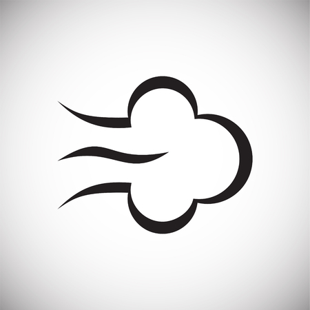 Wind icon on white background for graphic and web design, Modern simple vector sign. Internet concept. Trendy symbol for website design web button or mobile app
