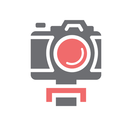 Video blogger equipment icon on white background for graphic and web design, Modern simple vector sign. Internet concept. Trendy symbol for website design web button or mobile app Illustration