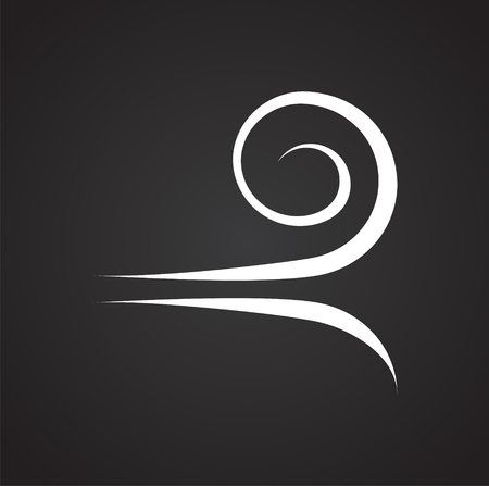 Wind icon on black background for graphic and web design, Modern simple vector sign. Internet concept. Trendy symbol for website design web button or mobile app Stockfoto - 117631562