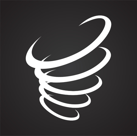 Wind icon on black background for graphic and web design, Modern simple vector sign. Internet concept. Trendy symbol for website design web button or mobile app Stockfoto
