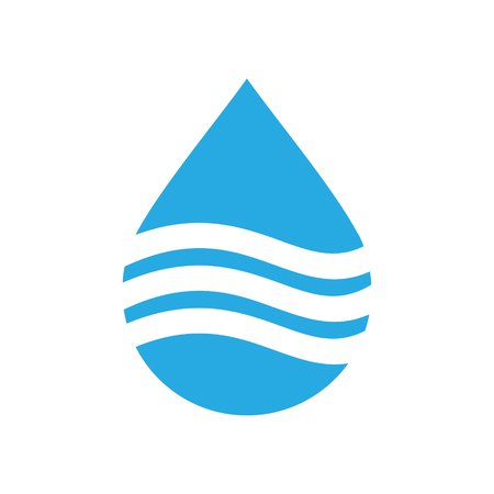 Drop water icon on white background for graphic and web design, Modern simple vector sign. Internet concept. Trendy symbol for website design web button or mobile app
