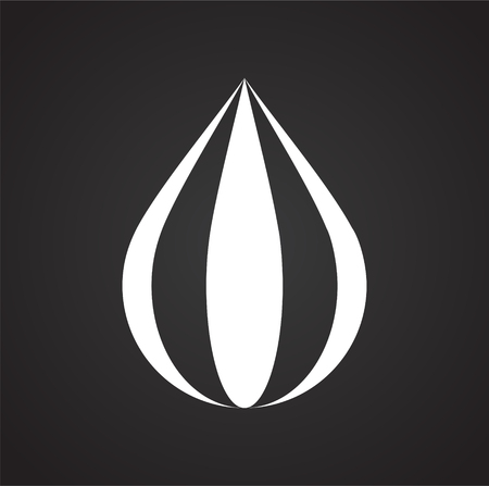 Drop water icon on black background for graphic and web design, Modern simple vector sign. Internet concept. Trendy symbol for website design web button or mobile app