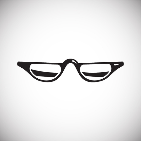 Glasses icon on white background for graphic and web design, Modern simple vector sign. Internet concept. Trendy symbol for website design web button or mobile app Foto de archivo - 118001768