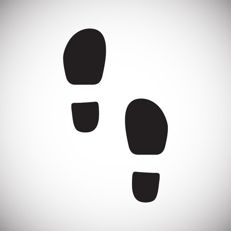 Footprint icon on white background for graphic and web design. Simple vector sign. Internet concept symbol for website button or mobile app. Illusztráció