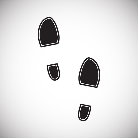 Footprint icon on white background for graphic and web design. Simple vector sign. Internet concept symbol for website button or mobile app. Illustration