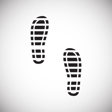 Footprint icon on white background for graphic and web design. Simple vector sign. Internet concept symbol for website button or mobile app