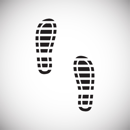 Footprint icon on white background for graphic and web design. Simple vector sign. Internet concept symbol for website button or mobile app. Imagens