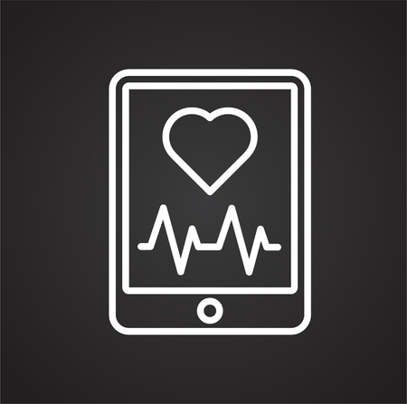 Cardiology line icon on background for graphic and web design. Simple vector sign. Internet concept symbol for website button or mobile app.
