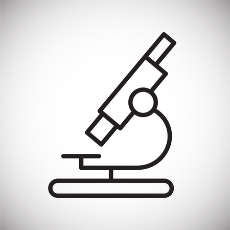 Microscope line icon on background for graphic and web design. Simple vector sign. Internet concept symbol for website button or mobile app.