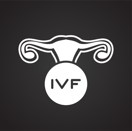 IVF icon on background for graphic and web design. Simple vector sign. Internet concept symbol for website button or mobile app.