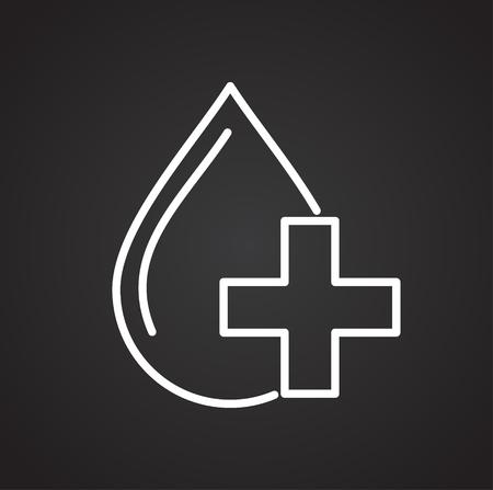 Blood donation line icon on background for graphic and web design. Simple vector sign. Internet concept symbol for website button or mobile app. Векторная Иллюстрация