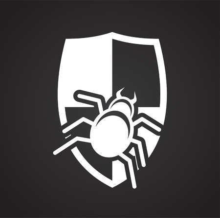 Virus attack icon on background for graphic and web design. Simple vector sign. Internet concept symbol for website button or mobile app.