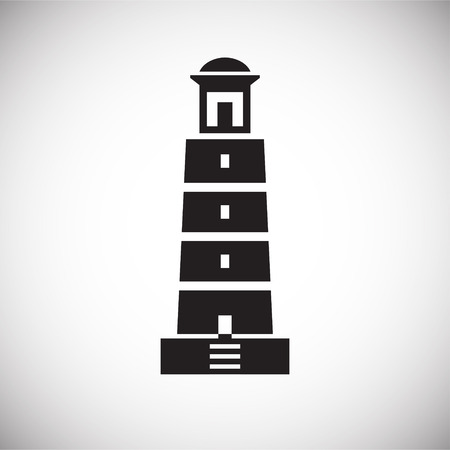 Lighthouse  icon on background for graphic and web design. Simple vector sign. Internet concept symbol for website button or mobile app.
