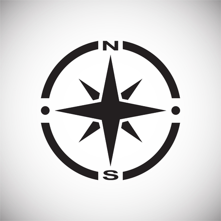 Compass icon on background for graphic and web design. Simple vector sign. Internet concept symbol for website button or mobile app.