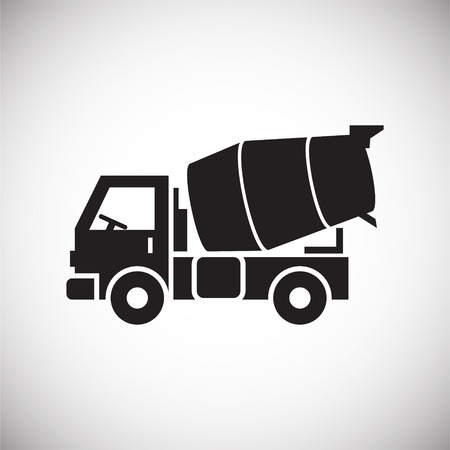 Truck icon on background for graphic and web design. Simple vector sign. Internet concept symbol for website button or mobile app. Illustration