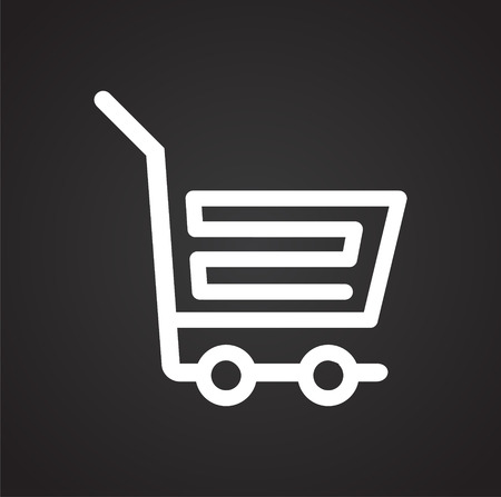 Shop cart icon on background for graphic and web design. Simple vector sign. Internet concept symbol for website button or mobile app.