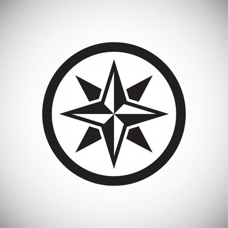 Icono de brújula en el fondo para diseño gráfico y web. Signo de vector simple. Símbolo del concepto de Internet para el botón del sitio web o la aplicación móvil.