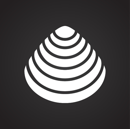 Sea Shell icon on black background for graphic and web design. Simple vector sign. Internet concept symbol for website button or mobile app.