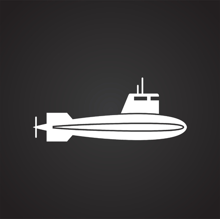 Ship icon on background for graphic and web design. Simple vector sign. Internet concept symbol for website button or mobile app Vector Illustratie
