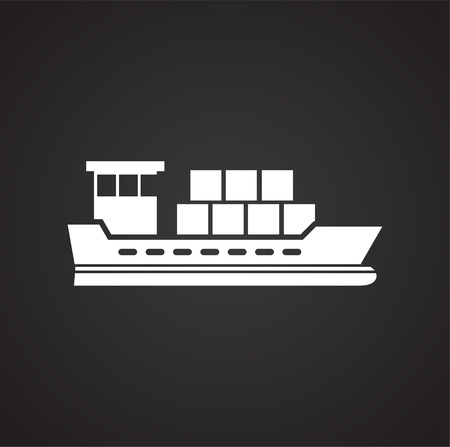 Ship icon on background for graphic and web design. Simple vector sign. Internet concept symbol for website button or mobile app. Vektorgrafik