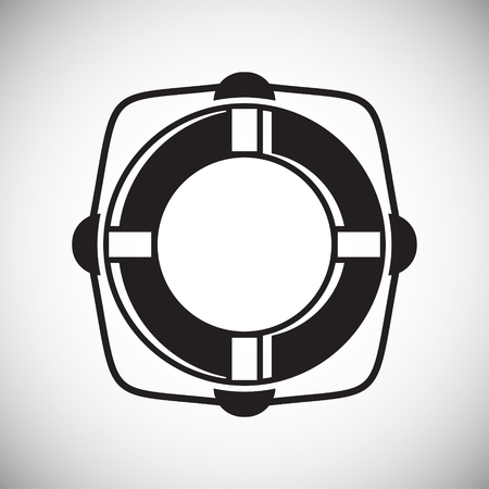 Life buoy icon on background for graphic and web design. Simple vector sign. Internet concept symbol for website button or mobile app. Standard-Bild - 118665353