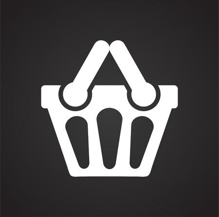 Shop basket icon on background for graphic and web design. Simple vector sign. Internet concept symbol for website button or mobile app. Ilustração