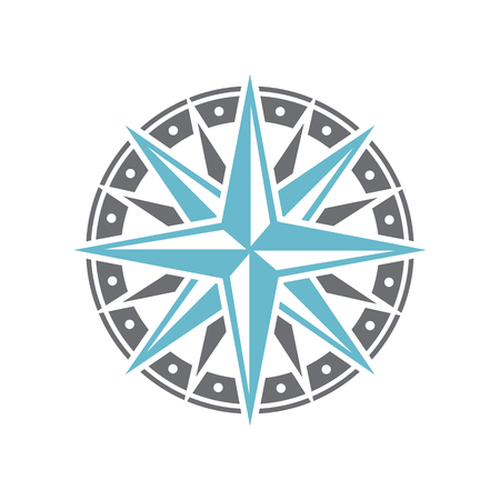 Ship marine compass icon on background for graphic and web design. Simple vector sign. Internet concept symbol for website button or mobile app. Standard-Bild - 118665399