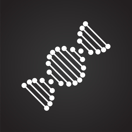 DNA icon on background for graphic and web design. Simple vector sign. Internet concept symbol for website button or mobile app