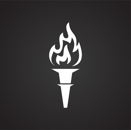 Torch icon on background for graphic and web design. Simple vector sign. Internet concept symbol for website button or mobile app