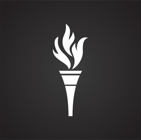 Torch icon on background for graphic and web design. Simple vector sign. Internet concept symbol for website button or mobile app.