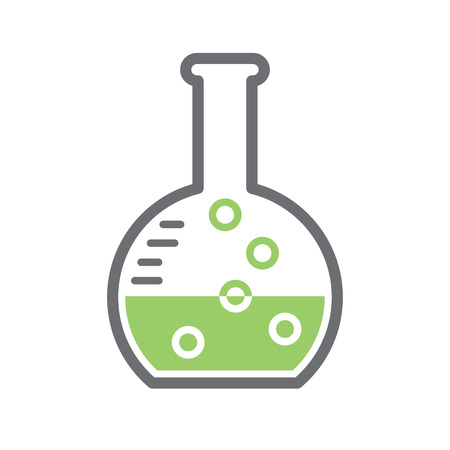 Chemistry glassware icon on background for graphic and web design. Simple vector sign. Internet concept symbol for website button or mobile app Foto de archivo - 118731099