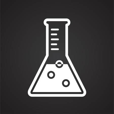 Chemistry glassware icon on background for graphic and web design. Simple vector sign. Internet concept symbol for website button or mobile app Foto de archivo - 119011801