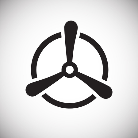 Propeller icon on background for graphic and web design. Simple vector sign. Internet concept symbol for website button or mobile app