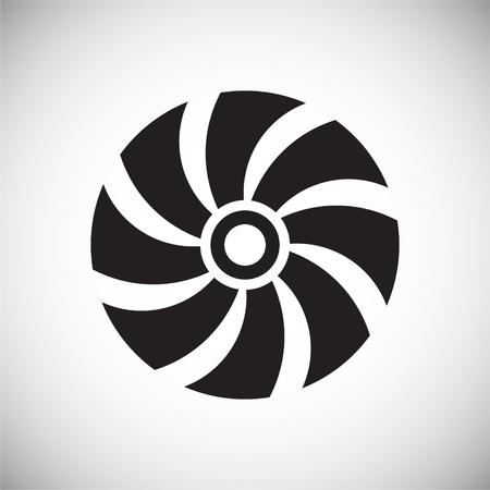Icono de hélice sobre fondo para diseño gráfico y web. Signo de vector simple. Símbolo del concepto de Internet para el botón del sitio web o la aplicación móvil Ilustración de vector