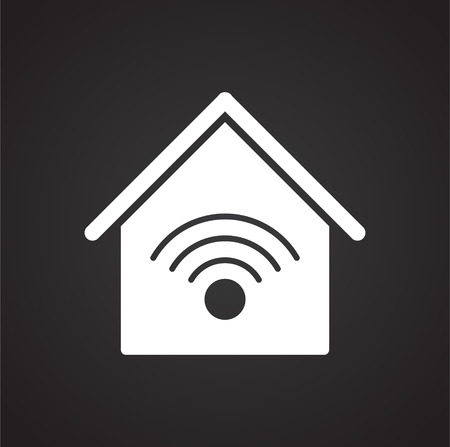 Smart home related icon on background for graphic and web design. Simple vector sign. Internet concept symbol for website button or mobile app. Ilustração